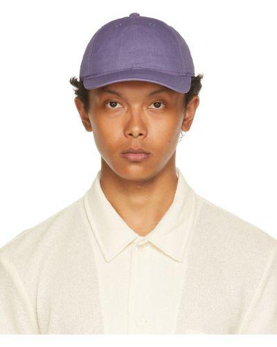Fioletowa czapka z haftem z nylonu Our Legacy