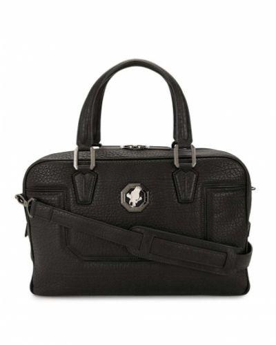 Черный кожаный портфель на молнии Stefano Ricci