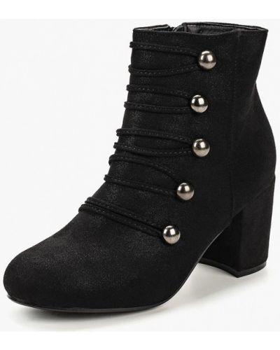 Ботильоны черные на каблуке Style Shoes