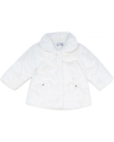Белое зимнее пальто из искусственного меха Tartine Et Chocolat