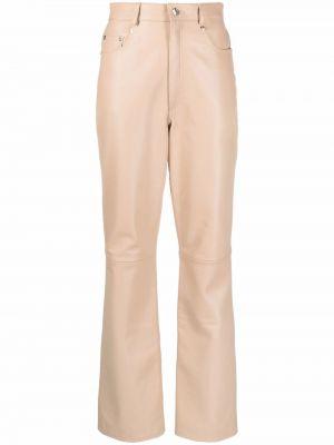 Свободные кожаные брюки на молнии Manokhi