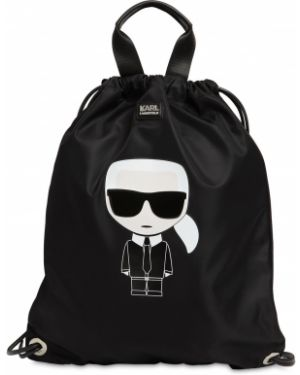 Кожаная сумка с леопардовым принтом нейлоновая Karl Lagerfeld