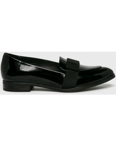 Мокасины кожаные черные Gino Rossi