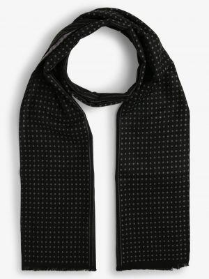 Czarny szalik elegancki Finshley & Harding