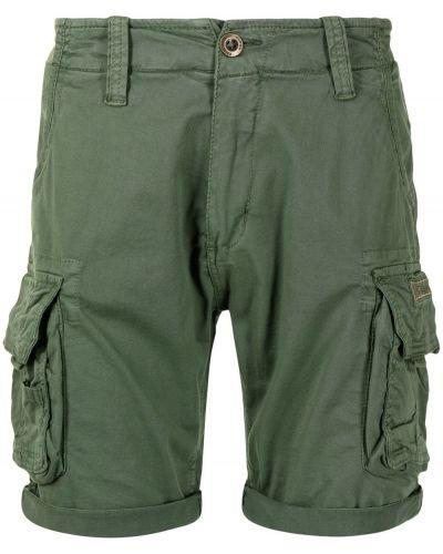 Хлопковые шорты карго с карманами с вышивкой Alpha Industries