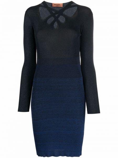 Синее платье из полиэстера Missoni