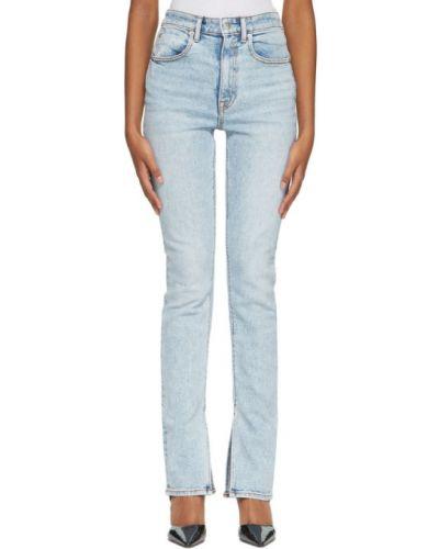 Белые джинсы с манжетами стрейч с логотипом Alexander Wang