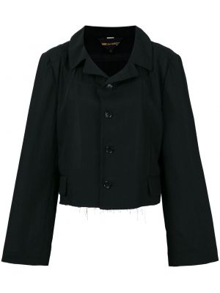 Нейлоновая черная короткая куртка Comme Des Garçons Pre-owned