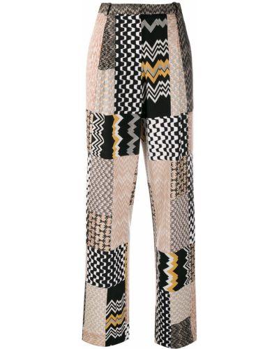 С завышенной талией шерстяные брюки с карманами Missoni