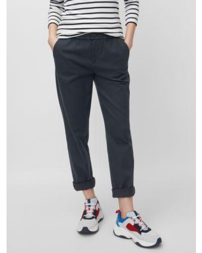 Хлопковые синие свободные брюки свободного кроя на пуговицах Marc O' Polo