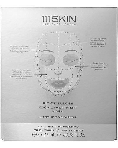 Jedwab maska do twarzy khaki przycięte bezpłatne cięcie 111skin