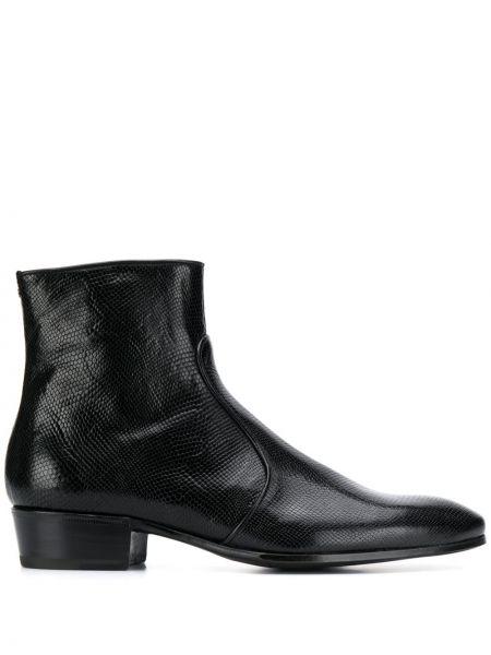 Черные кожаные ботинки Lidfort