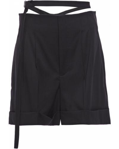 Шерстяные черные шорты с манжетами Helmut Lang