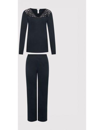 Czarna piżama Hanro