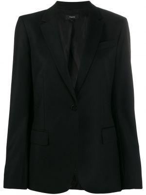 Пиджак черный в полоску Theory