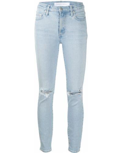 Хлопковые синие джинсы-скинни на пуговицах Nobody Denim
