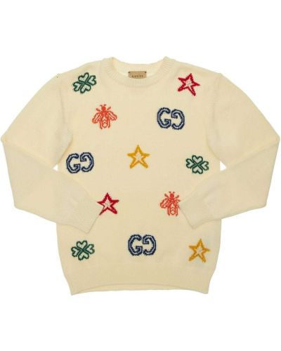 Biały sweter bawełniany Gucci