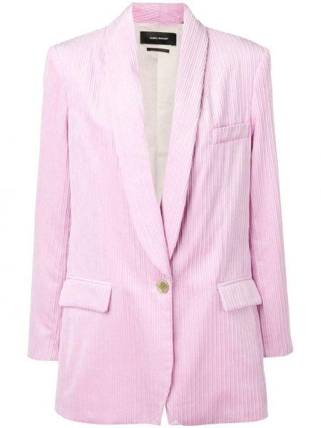 Розовый пиджак вельветовый с карманами Isabel Marant