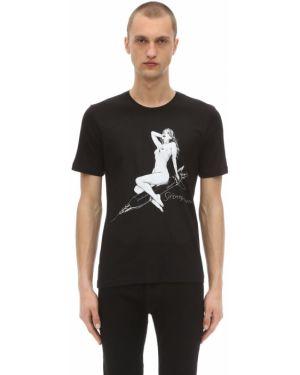 Prążkowana czarna koszula bawełniana Passarella Death Squad