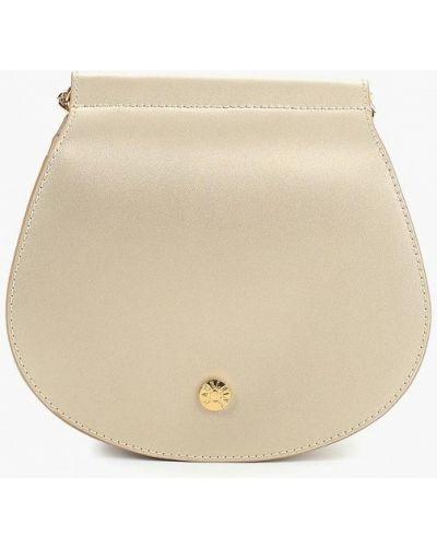 Кожаная сумка через плечо золотая Madeleine