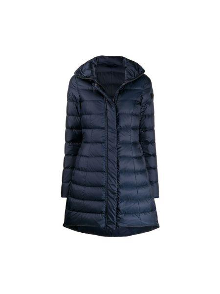 Niebieski długi płaszcz Peuterey