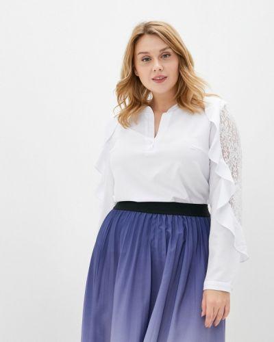 Белая блузка с длинным рукавом с длинными рукавами Mankato