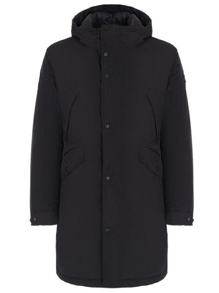 Прямая синяя куртка с капюшоном на молнии с карманами Paul & Shark