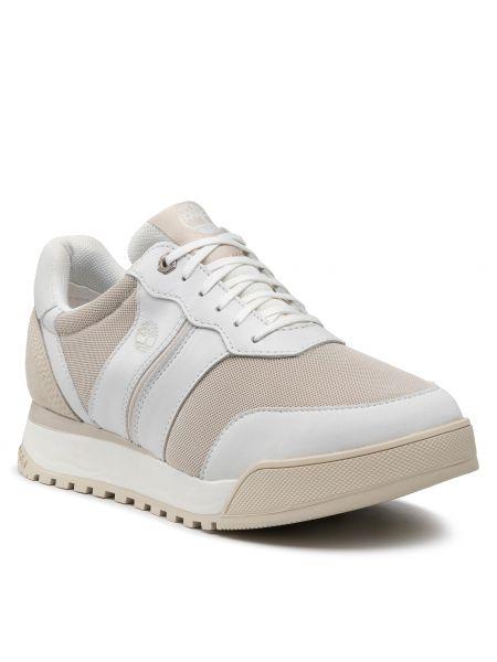 Buty sportowe skorzane - białe Timberland