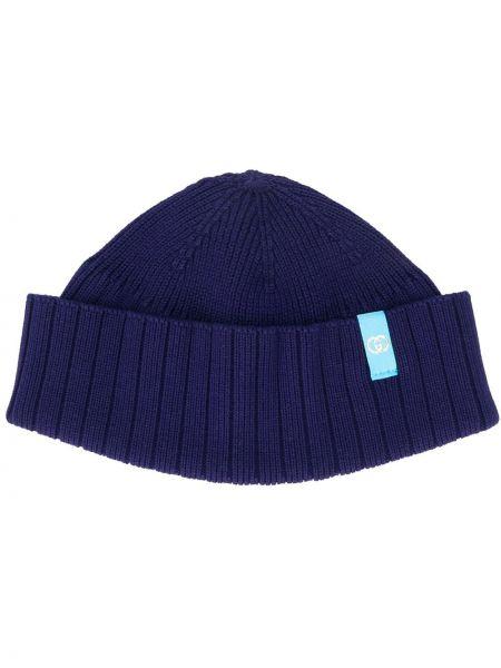 Bawełna bawełna ciemnoniebieski czapka z łatami Gucci
