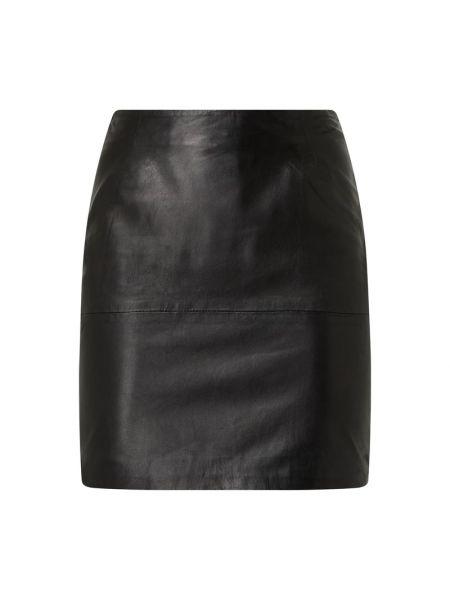 Czarna spódnica mini skórzana Ichi