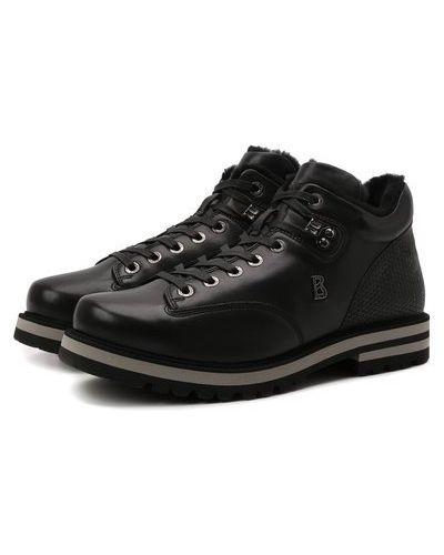 Черные кожаные сапоги Bogner