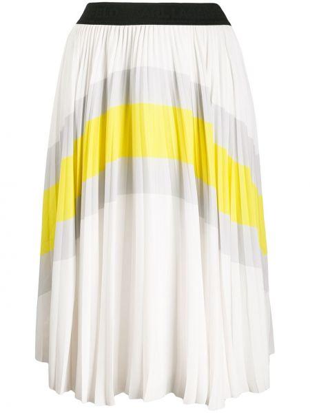 Spódnica plisowana biała tutu Karl Lagerfeld