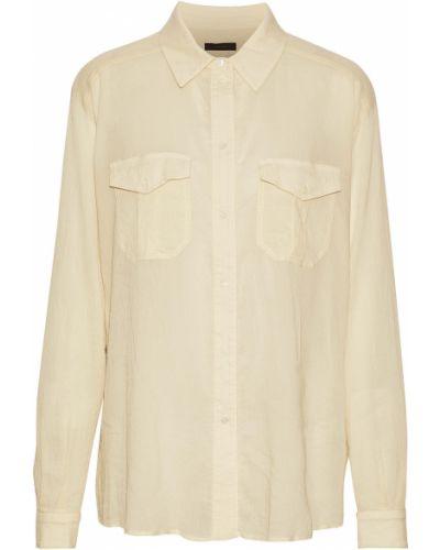 Шелковая рубашка с манжетами на пуговицах Belstaff