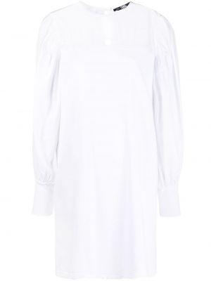 Прямое с рукавами белое платье Karl Lagerfeld