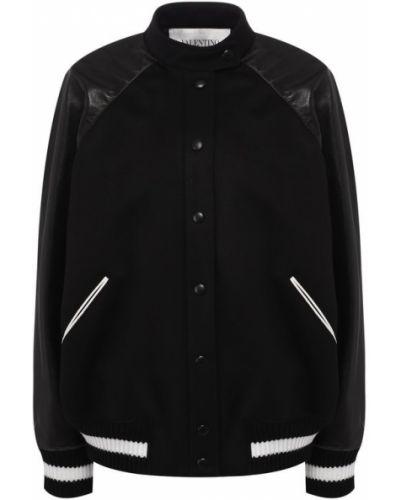Куртка черная кашемировая Valentino