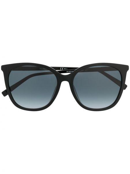 Черные солнцезащитные очки металлические оверсайз Max Mara