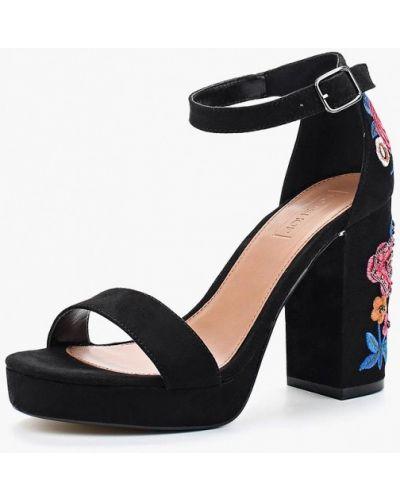 Черные босоножки на каблуке Topshop