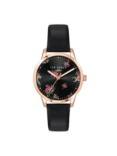 Czarny złoty zegarek Ted Baker