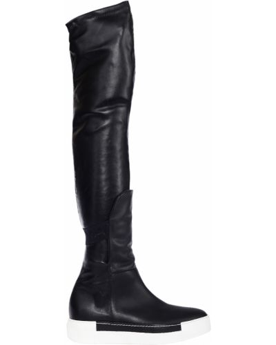 Черные ботфорты кожаные Vic Matie