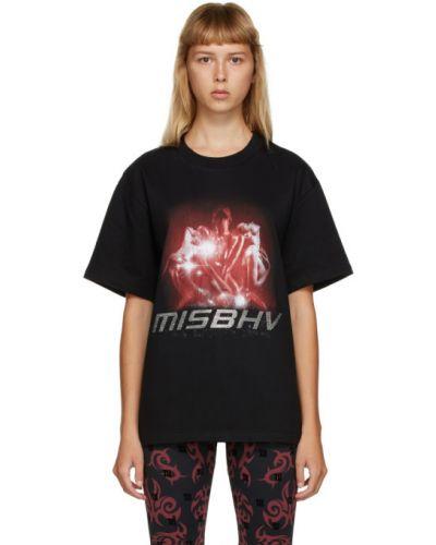 Bawełna czarny koszula z krótkim rękawem z kołnierzem krótkie rękawy Misbhv