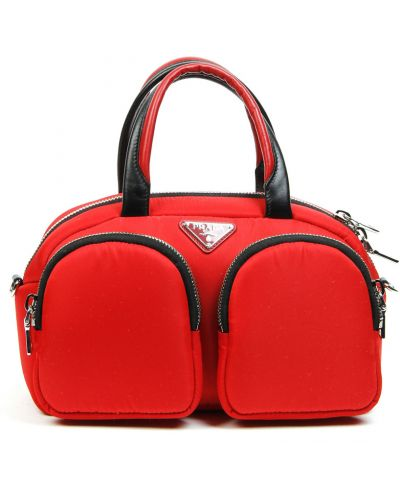 Czerwona torba na ramię Prada