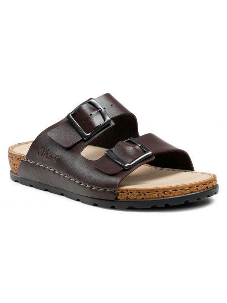 Brązowe sandały na lato Rieker