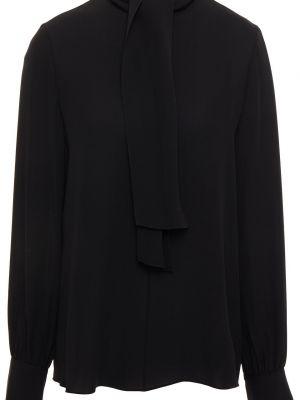 Черная блузка из крепа Theory