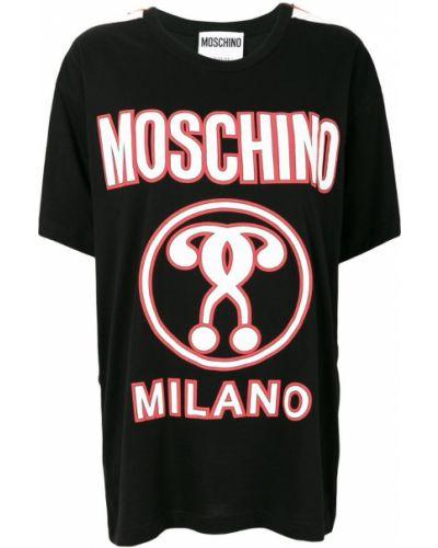 Футболка с логотипом в полоску Moschino