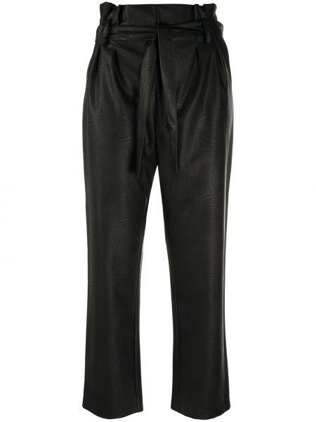 Брючные черные укороченные брюки из вискозы Blumarine