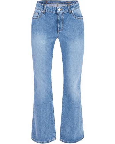 Расклешенные джинсы с эффектом потертости винтажные Alexander Mcqueen