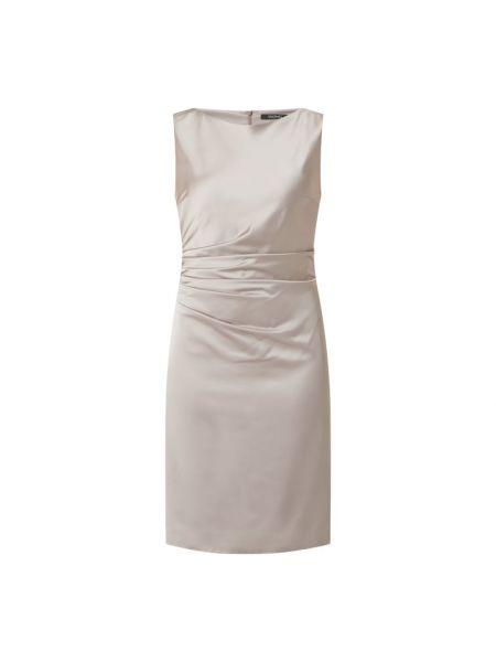 Sukienka koktajlowa - beżowa Swing
