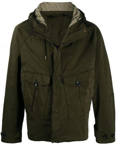 Zielony z rękawami anorak kurtka z kapturem z mankietami Ten C