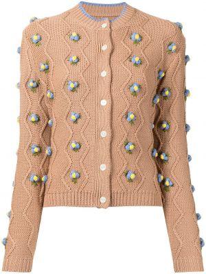 Brązowy sweter z haftem Shrimps