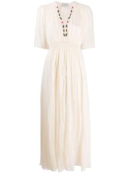 Платье мини макси с V-образным вырезом Forte Forte